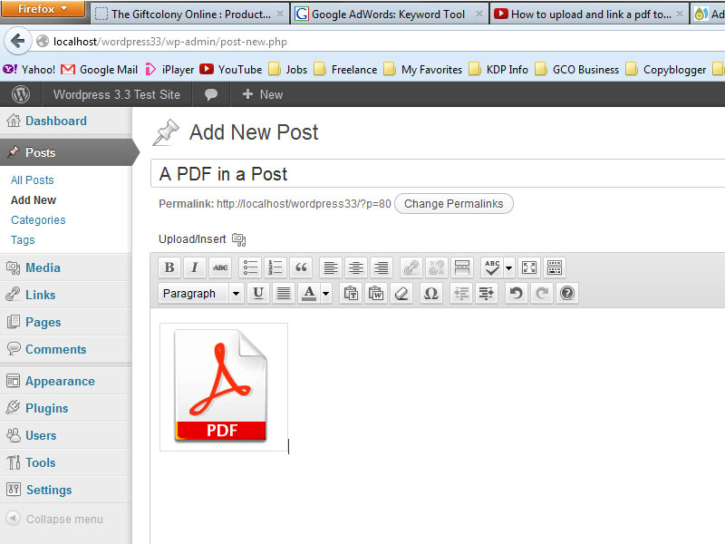 Wordpress Pdf Icon