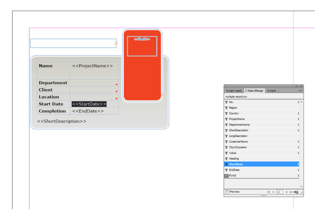 Place holder text in InDesign CS6