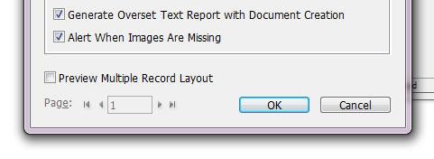 Generate overset text report