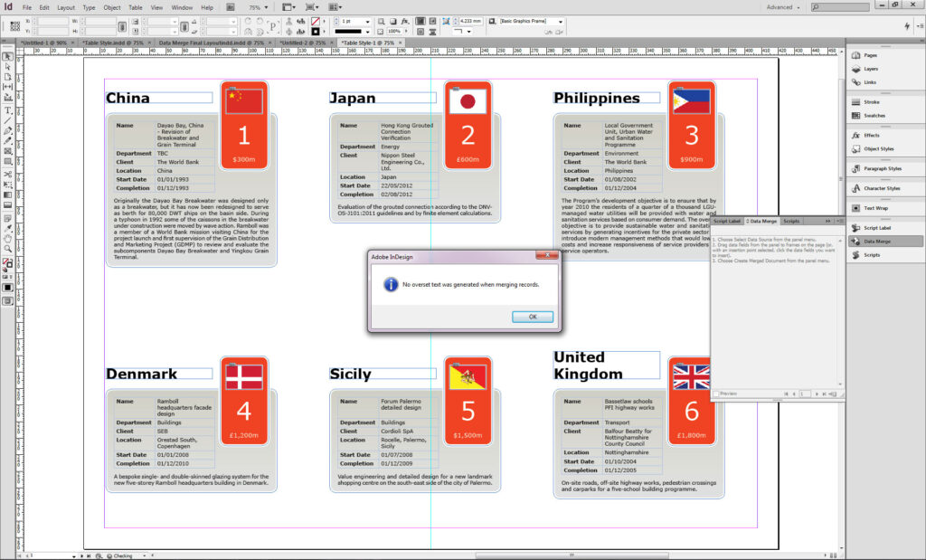 Overset Text report in Indesign CS6