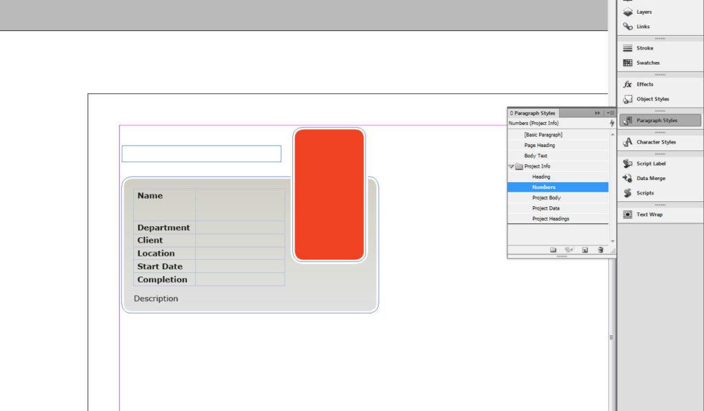 InDesign CS6 Data merge design