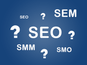 What is seo, sem, smm, smo