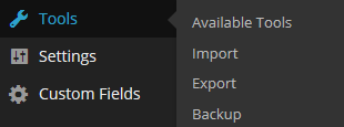 Tools import and export